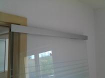 Glasbackenabdeckschienen, Edelstahloptik, Sonderbreite Tür