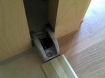 Bodenführung Schiebetür, Tür Glasstärke 12mm